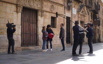 El programa 'Rutas Bizarras' de TVE graba durante este lunes en Salamanca